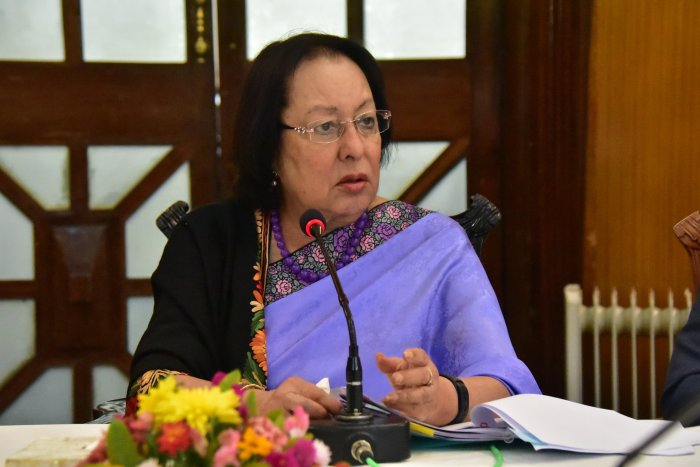 Manipur Governor Najma Heptulla was on her way to board a flight to Lakshadweep from the Nedumbassery airport when the incident occurred. Photo/Twitter (@nheptulla)