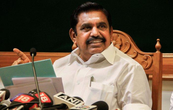 Tamil Nadu Chief Minister Edappadi K Palaniswami. (PTI Photo)