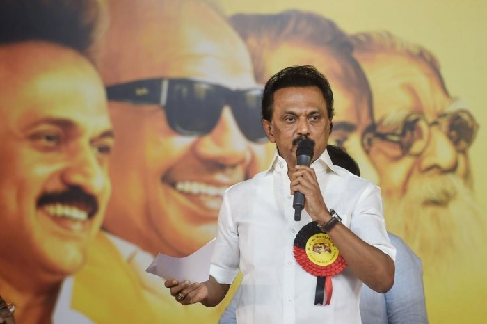 """""""BJP government must reconsider CAA2019 (Citizenship Amendment Act) in the wake of widespread, continuous protests,"""" Stalin said in a tweet. (PTI Photo)"""