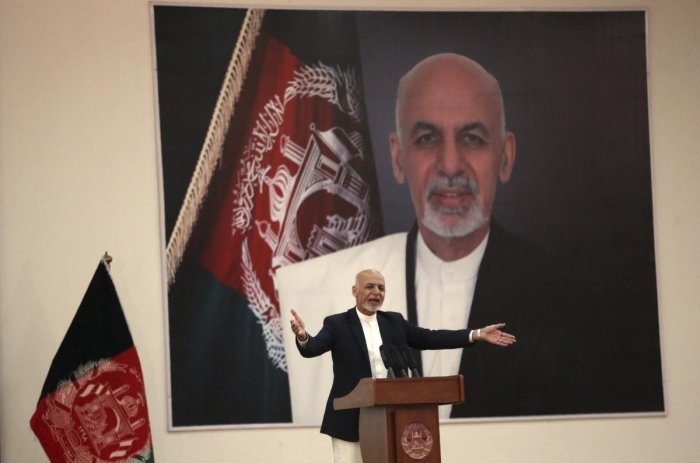 Kabul: Afghan President Ashraf Ghani speaks during a ceremony to introduce the new chief of the intelligence service, in Kabul, Afghanistan. (PTI Photo)