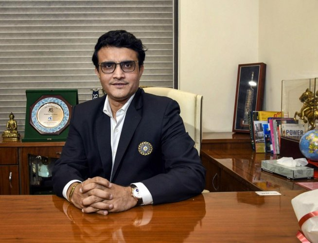 Sourav Ganguly poses for a photograph after taking charge as the new BCCI President at BCCI headquarters, in Mumbai, Wednesday, Oct. 23, 2019. (PTI Photo)