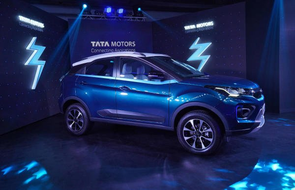 Tata Motors' electric sport-utility vehicle (SUV) Nexon EV is displayed during its launch in Mumbai, India, January 28, 2020.  (Reuters Photo)