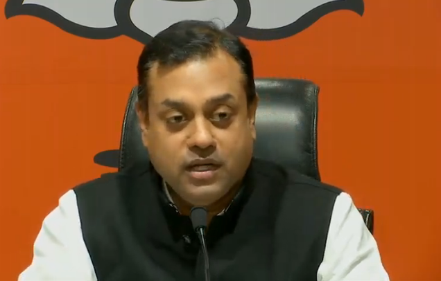 """BJP spokesperson Sambit Patra accused Congress of """"giving everything a communal colour""""."""