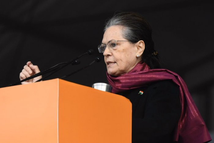 Talking about the newly amended citizenship law, Sonia Gandhi said it has been on the BJP's agenda for a long time now. Photo/Twitter (@INCIndia)