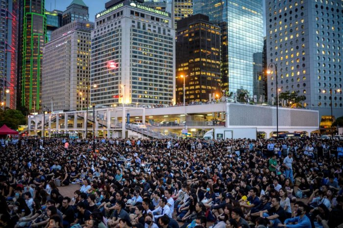A file AFP photo of Hong Kong protest.