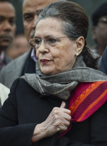 Congress interim president Sonia Gandhi. (PTI Photo)