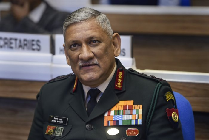 Army Chief Bipin Singh Rawat criticised the violent tone of the anti-Citizenship (Amendment) Act by slamming the student protesters who have been at the helm of the protests. (PTI Photo)