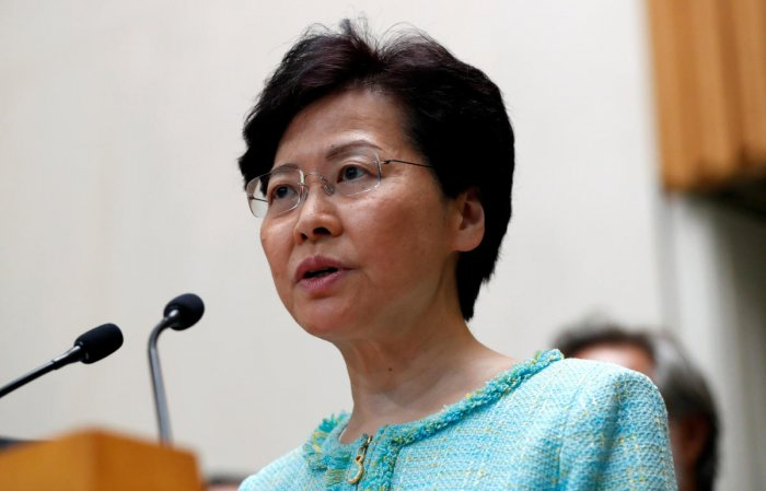 Hong Kong's leader Carrie Lam. (Reuters Photo)