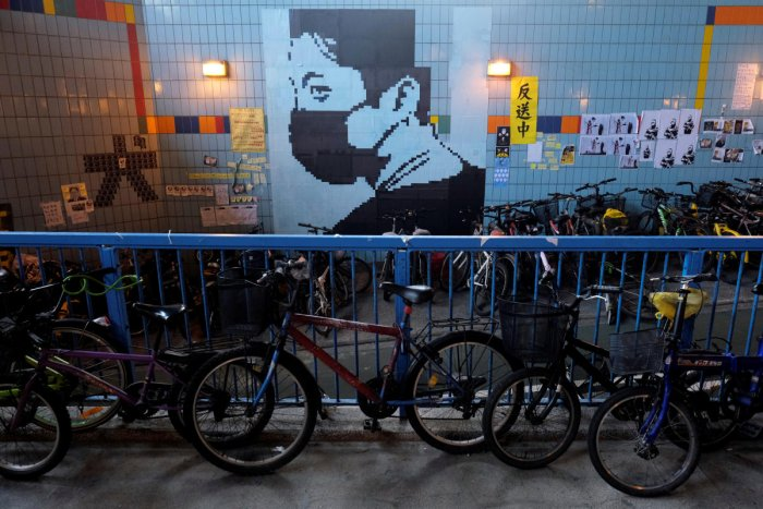 """Memos and posters over the anti-extradition bill are seen on """"Lennon Walls"""" at Tai Po in Hong Kong. Reuters Photo"""