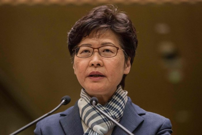 Hong Kong Chief Executive Carrie Lam speaks during a press conference in Hong Kong on November 11, 2019. (Photo by AFP)