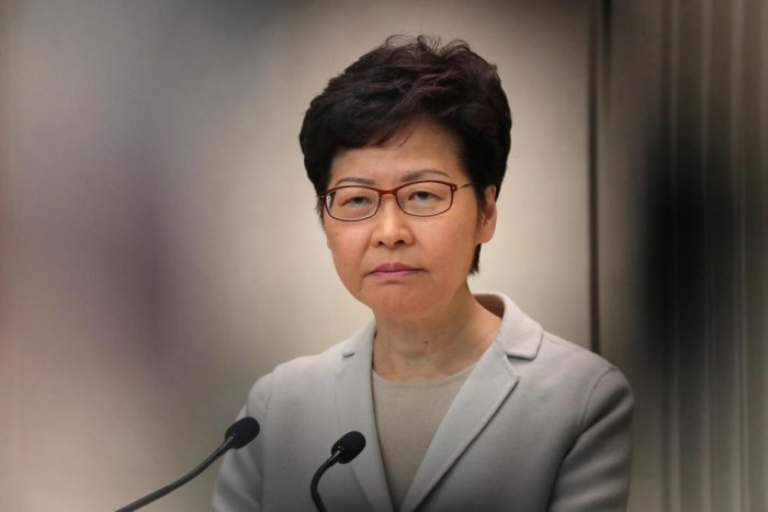 """""""Deficiencies in the government, including unhappiness with the time taken to deal with the current unstable environment and of course to end violence"""", Lam acknowledged. (Photo by Reuters)"""