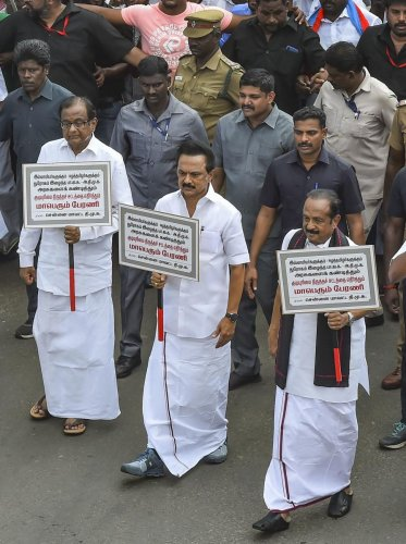 Around 8,000 people, including the leaders, have been under Section 143 (Punishment for unlawful assembly) of the IPC and Section 41 of Madras City Police Act.