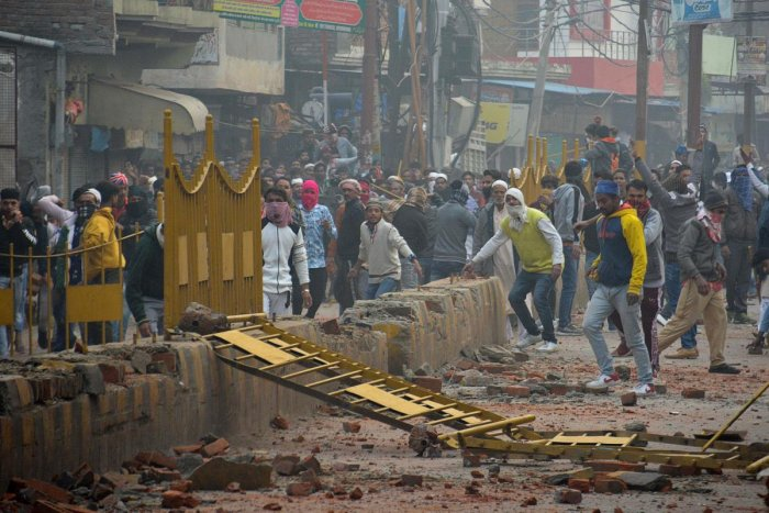 According to the police sources over 600 people have so far been arrested in connection with the violence in different parts of the state since Thursday. Photo/AFP