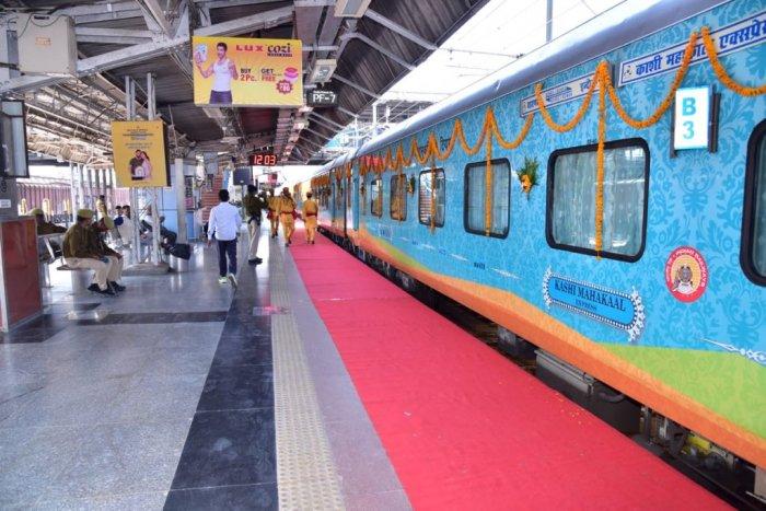 The Kashi Mahakal Express train will operate thrice a week between Varanasi and Indore, once via Prayagraj (Allahabad) and twice via Lucknow.  (Credit: Twitter Photo/@piyushgoyal)