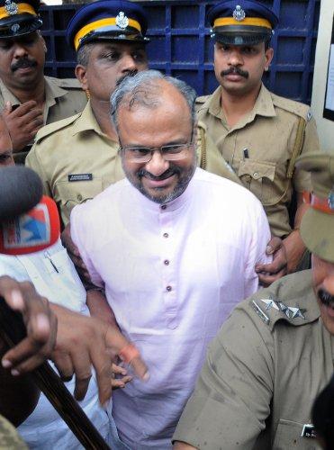 Rape accused Roman Catholic Bishop Franco Mulakkal. (PTI Photo)