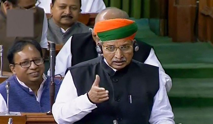"""""""Under the Constitution, they (states) have to implement it (CAA)"""", Union Parliamentary Affairs Minister Arjun Ram Meghwal said. (PTI Photo)"""
