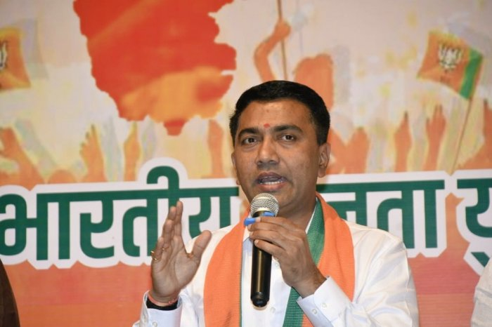 """It is a """"desperate attempt"""" of the opposition to spread fear among Muslims, the Goa CM alleged. Photo/Facebook (DrPramodPSawant)"""