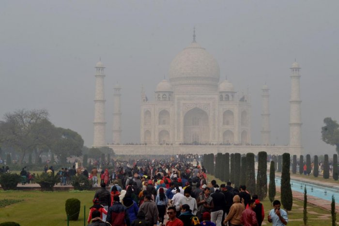 Officials estimate about 200,000 domestic and international tourists cancelled or postponed their trip to the Taj Mahal in the past two weeks, one of the world's most popular tourist attractions. Photo/AFP