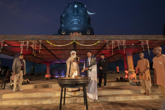 Vice President Venkaiah Naidu inaugurated the 26th annual Maha Shivaratri celebrations at the Isha Yoga Kendra organised by Isha Foundation of spiritual leader Sadhguru Jaggi Vasudev on the outskirts of Coimbatore in Tamil Nadu.