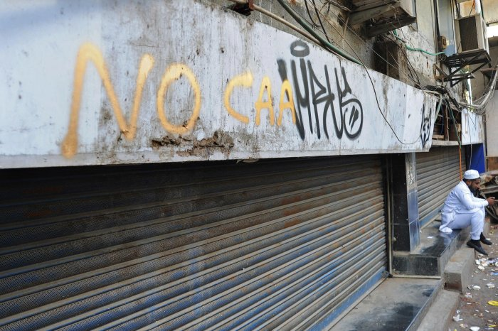 The initial market euphoria from Prime Minister Narendra Modi's re-election last year is wearing thin as economic growth stutters and policy making it harder for Muslim migrants to get citizenship stirs protests. Credit: DH Photo/Pushkar V