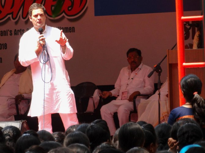 Cong would bring one GST slab, if voted to power, Rahul ?