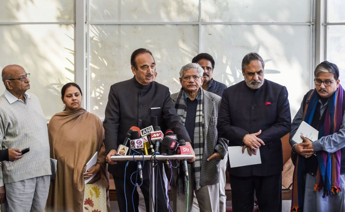"""Senior Congress leader Anand Sharma said termed the passage of the CAA as an """"assault"""" on the Constitution as it had created deep fault lines in the country. (Credit: PTI Photo)"""