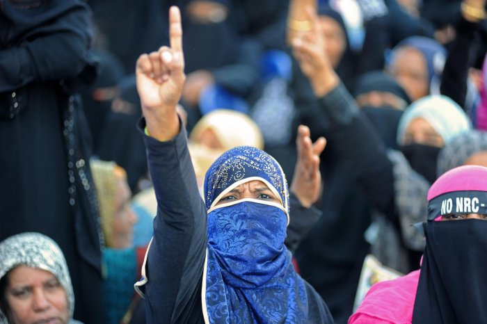 Hundreds of women protested against the Citizenship Amendment Act (CAA) and the National Register of Citizens (NRC) in the city over the past several weeks. DH FILE Photo/Pushkar V