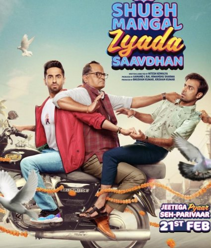 Shubh Mangal Zyada Saavdhan is doing well at the box office. (Credit: Twitter)