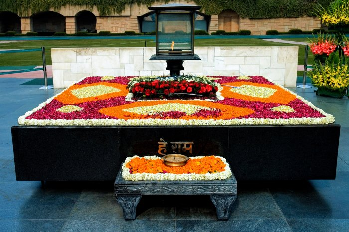Heavy security was in place around Rajghat on Monday, even as dog squads and a bomb disposal squad remained at work inside the premises along with other personnel. (Credit: Wikimedia Commons Photo)
