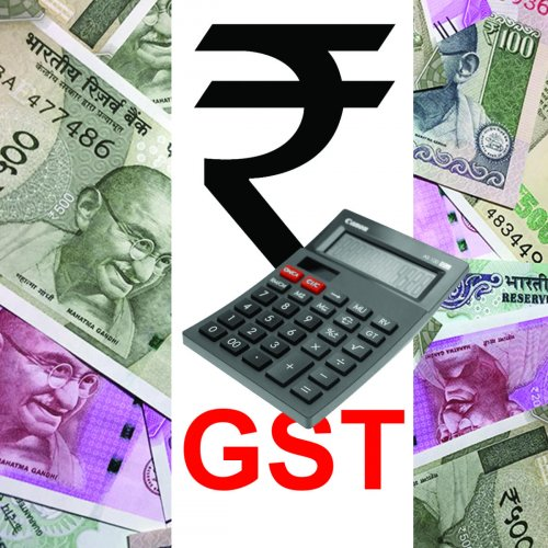 Of the Rs 94,726 crore collected, Central GST (CGST)collection is Rs 16,442 crore, State GST (SGST) is Rs 22,459 crore, Integrated GST (IGST) is Rs 47,936 crore and Cess is Rs 7,888 crore. DH Illustration
