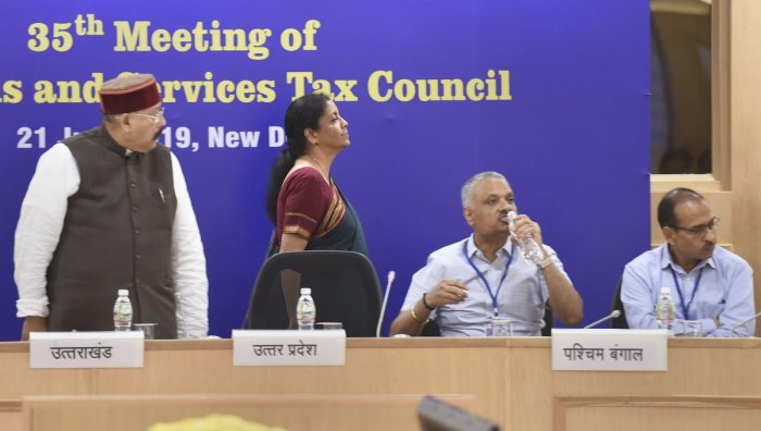 The Government will organise an event on July 1, to celebrate the second anniversary of Goods and Services Tax (GST) roll out, which will be addressed by Finance Minister Nirmala Sitharaman and her deputy Anurag Thakur. (PTI File Photo)
