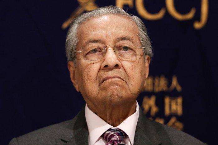 Malaysia's interim Prime Minister Mahathir Mohamad. (AFP Photo)