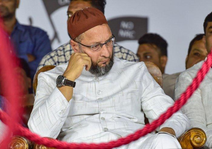 President of the AlI India MIM Asaduddin Owaisi. (PTI Photo)