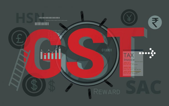 The Logo of GST. (DH photo)