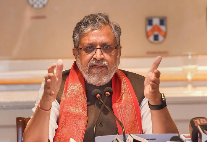 Sushil Kumar Modi, Deputy Chief Minister of Bihar and Convenor of Group of Ministers on IGST. (File Photo)