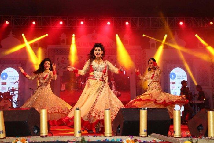 An entertainment programme at the Taj Mahotsav. PIC COURTESY: UP TOURISM