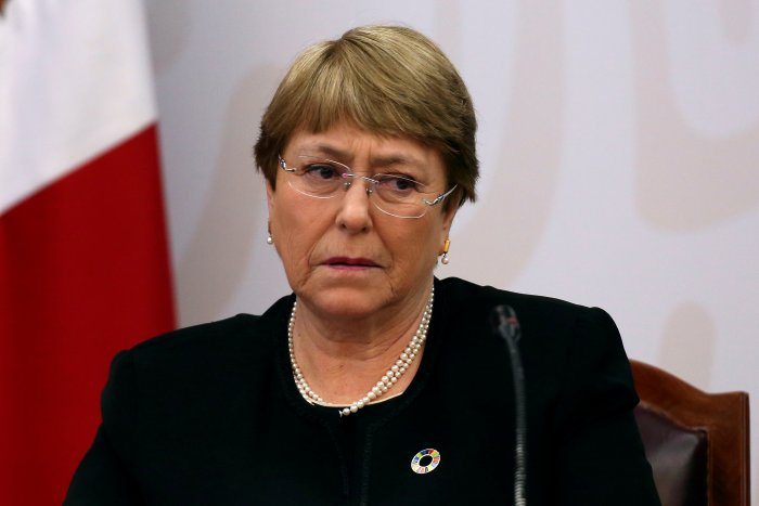 U.N. High Commissioner for Human Rights Michelle Bachelet looks on before signing an agreement on the provision of guidance and technical assistance in the Ayotzinapa case, in Mexico City. (Reuters Photo)