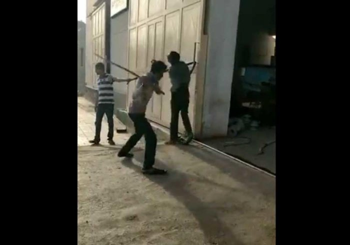 NHRC said the incident raises a serious issue of violation of human rights and asked the Gujarat Chief Secretary to submit a report on the incident within four weeks. (Screenshot from the video shared by Jignesh Mevani on Twitter)