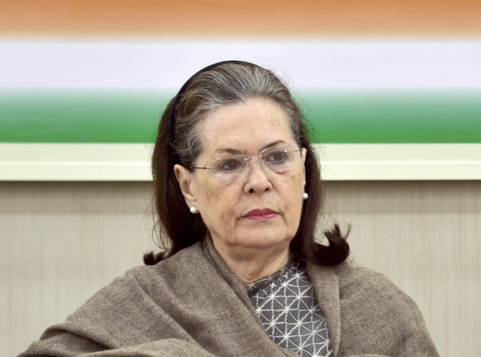 """""""The conspiracy was witnessed during Delhi polls and BJP leaders gave hate speeches creating atmosphere of fear and hatred,"""" Congress presidentSoniaGandhi said."""