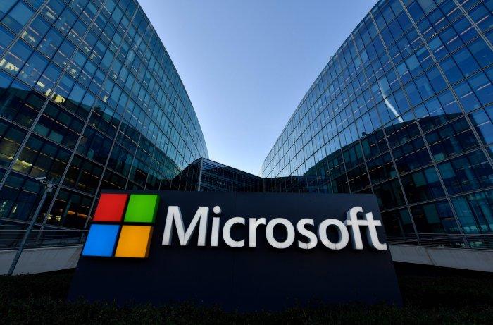 Microsoft logo. (AFP Photo)