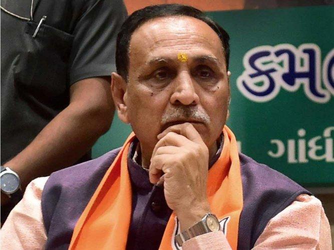 Gujarat CM Vijay Rupani. (PTI Photo)