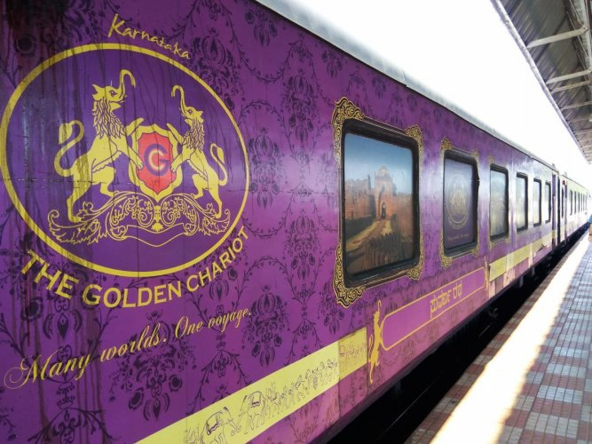 Almost 112% of the net revenue from the sale of tickets for the Golden Chariot is paid to the Railways, apart from payment to hospitality partners. (DH file photo)