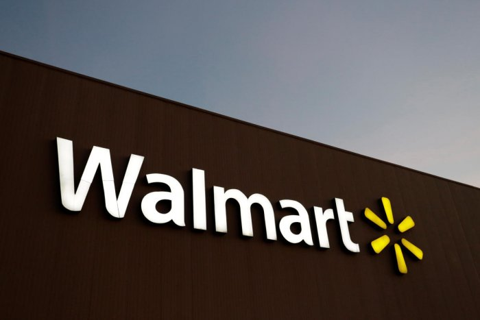 FILE PHOTO: The logo of Walmart is pictured at one of their stores in Monterrey, Mexico March 6, 2017. REUTERS/Daniel Becerril/File Photo