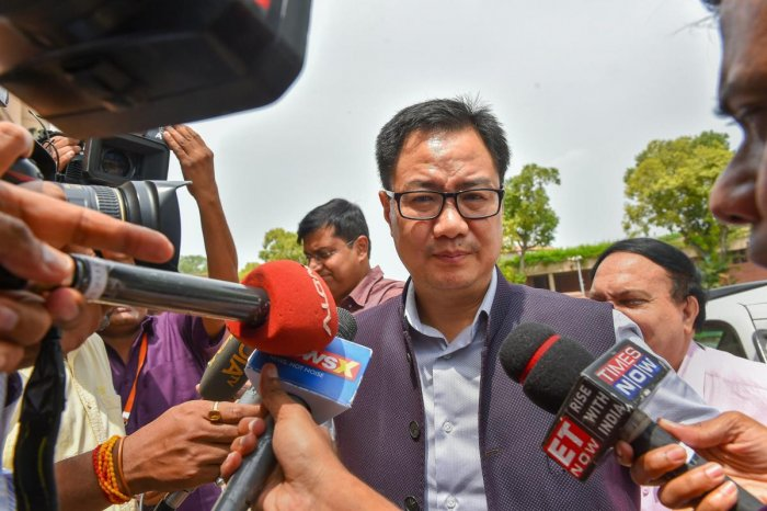 Union Minister of State for Home Affairs Kiren Rijiju. PTI file photo