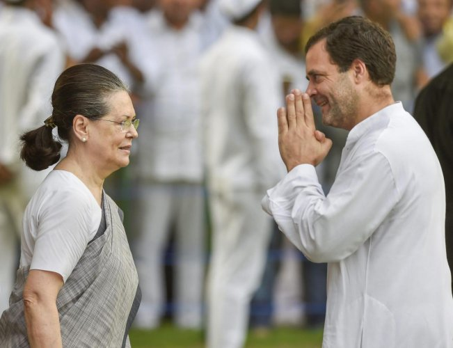 Rahul Gandhi and Sonia Gandhi. PTI file photo