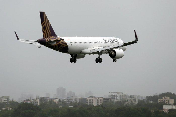 Representative image of Vistara plane.