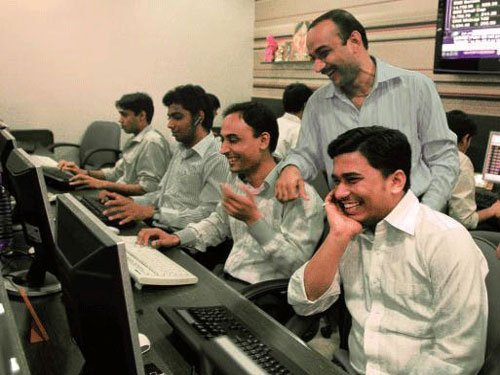 Sensex jumps 161 pts on positive macro data; Nifty above 8,000