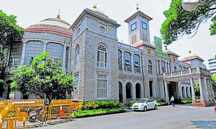 Bruhat Bengaluru Mahanagara Palike (BBMP) office building, NR Square in Bengaluru. Photo by S K Dineshpvec13mar17bbmp 2