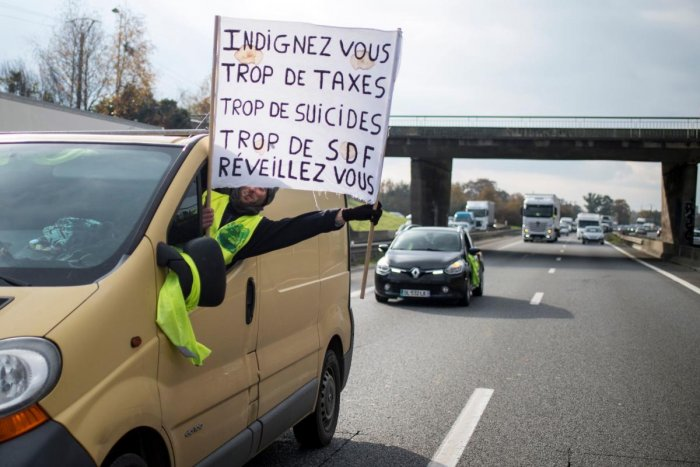 Nearly 300,000 people blocked motorways, roundabouts, businesses, and fuel depots last Saturday, Nov 17 and smaller protests have continued this week, with an estimated 5,000 people still taking part on Friday. AFP Photo