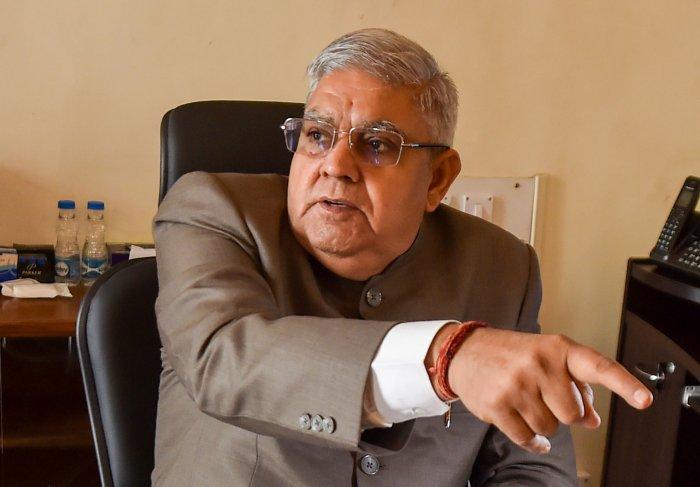 West Bengal Governor Jagdeep Dhankar. (PTI Photo)